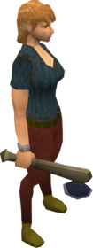 Katagon hatchet equipped.png: Katagon hatchet equipped by a player