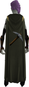 Mining cape equipped.png: Mining cape equipped by a player