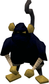 Ninja monkey greegree equipped.png: Ninja monkey greegree equipped by a player