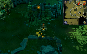 Scan clue Brimhaven Dungeon lower level west side of fire giant chamber.png