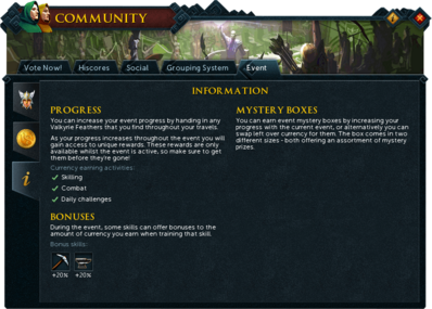 Community (Valkyrie's Return) interface information.png