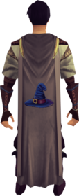 Magic cape equipped.png: Magic cape equipped by a player
