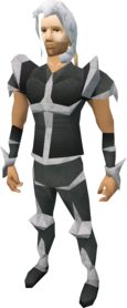Skeletal armour equipped (male).png: Skeletal bottoms equipped by a player