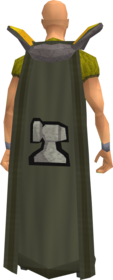 Retro smithing cape equipped.png: Smithing cape equipped by a player