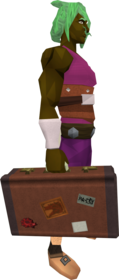 Suitcase equipped.png: Suitcase equipped by a player