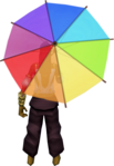 Rainbow parasol equipped.png