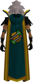 Retro hooded fletching cape (t) equipped.png: Hooded fletching cape (t) equipped by a player
