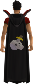Retro hooded slayer cape equipped.png: Hooded slayer cape equipped by a player