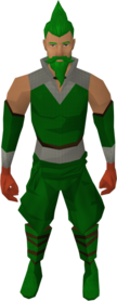 Brawling gloves (Melee) equipped.png: Brawling gloves (Melee) equipped by a player