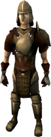 Bronze armour (heavy) equipped (male).png: Bronze platebody equipped by a player
