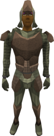 Protoleather armour equipped (male).png: Protoleather boots equipped by a player