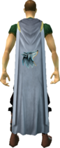 Summoning cape equipped.png: Summoning cape equipped by a player
