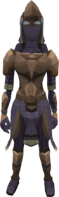 Tyrannoleather armour equipped (female).png: Tyrannoleather body equipped by a player