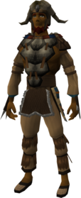 Hoardstalker outfit equipped (male).png: Hoardstalker boots (Sinkholes) equipped by a player