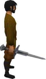 Steel abyssal sword equipped.png: Steel abyssal sword equipped by a player