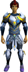 Augmented Armadyl armour equipped (male).png: Augmented Armadyl chestplate equipped by a player