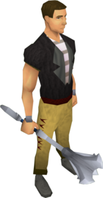 White mace equipped.png: White mace equipped by a player