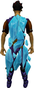 A player with the Ice Cloak equipped.