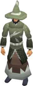 Mage armour (class 4) equipped.png: Hat (class 4) equipped by a player