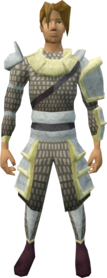 Vesta's armour equipped (male).png: Vesta's chainbody equipped by a player