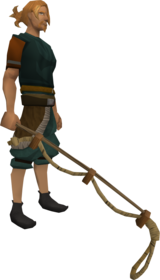 Noose wand equipped.png: Noose wand equipped by a player