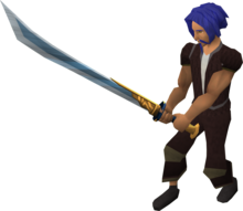 Ornate katana equipped.png: Ornate katana equipped by a player