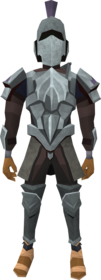 Intricate decorative armour equipped (male).png: Intricate decorative helm equipped by a player