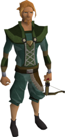 Off-hand black crossbow equipped.png: Off-hand black crossbow equipped by a player
