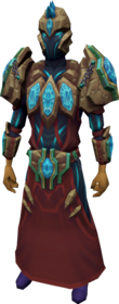Tectonic armour equipped.png: Tectonic robe top equipped by a player
