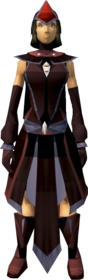 Dark mystic robe armour equipped (female).png: Dark mystic robe top equipped by a player