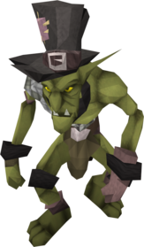 Black goblin mail equipped.png: Black goblin mail equipped by a player
