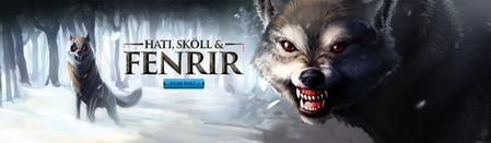 Hati, Skoll and Fenrir head banner.jpg