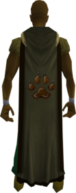 Hunter cape (t) equipped.png: Hunter cape (t) equipped by a player