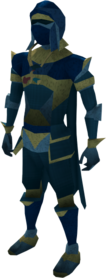 Lunar armour (blue) equipped (male).png: Lunar boots (blue) equipped by a player