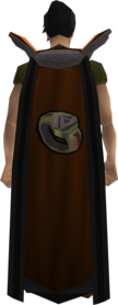 Retro dungeoneering cape equipped.png: Dungeoneering cape equipped by a player
