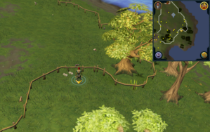 Scan clue Piscatoris Hunter area south of Falconer by fence.png