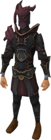 Anima core of Zamorak armour equipped.png: Anima core body of Zamorak equipped by a player