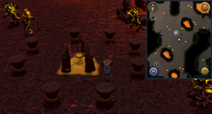 Emote clue Cheer TzHaar City sulphur pit.png