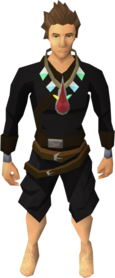 Arcane blood necklace equipped.png: Arcane blood necklace equipped by a player