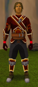 Fire runecrafting gloves equipped.png: Fire runecrafting gloves equipped by a player