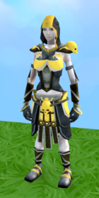 Superior Zuriel's armour equipped (female).png: Superior Zuriel's robe top equipped by a player