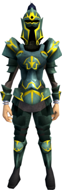 Adamant armour (g) (heavy) equipped (female).png: Adamant full helm (g) equipped by a player