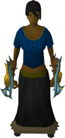 Exquisite_claws_equipped.png: Exquisite claw equipped by a player