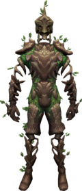 Oaken sentinel outfit equipped.png: Oaken sentinel branch equipped by a player