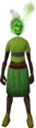 Flaming skull (green) equipped.png
