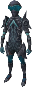 Starfire armour (ranged) equipped.png: Starfire chaps equipped by a player