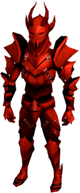 Dragon armour (heavy) equipped (male).png: Dragon gauntlets equipped by a player