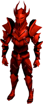 Dragon armour (heavy) equipped (male).png: Dragon boots equipped by a player