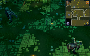 Scan clue Brimhaven Dungeon lower level north of Summoning obelisk.png