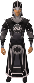 Void knight ranger helm equipped.png: Void knight ranger helm equipped by a player
